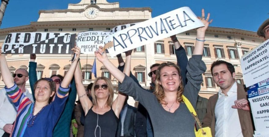 ITALY: 50,000 signatures in favour of a Guaranteed Minimum Income delivered to the lower house of the Italian Parliament