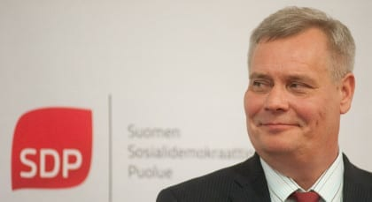 Antti Rinne, Chairman of the Social Democrat Party Of Finland.