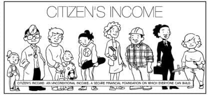 United Kingdom Cartoon Introduction For Basic Income Bien