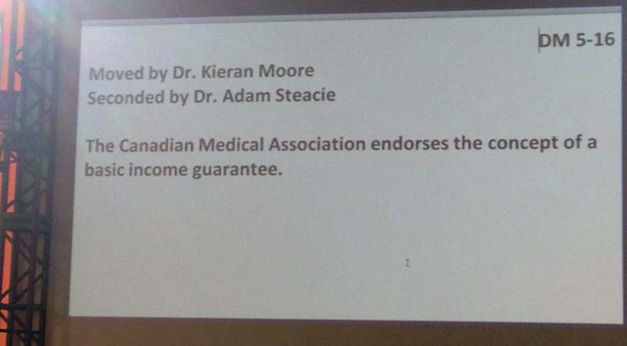 CANADA: Canadian Medical Association Officially Endorses Basic Income at General Council