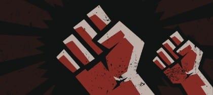 Raised Fist in Protest