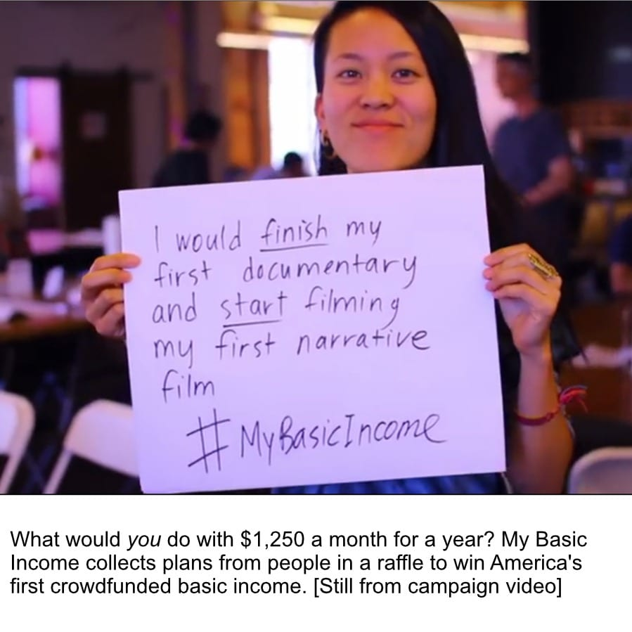 UNITED STATES: Big push as America's first crowdfunded basic income project approaches first milestone