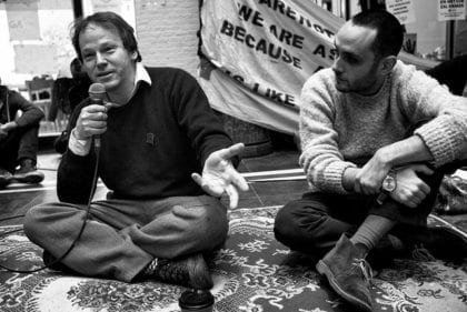 David Graeber (left) CC BY 2.0 Guido van Nispen