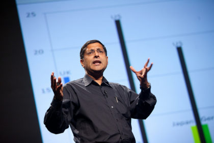 Arvind Subramanian at PopTech 2011 CC BY-NC-ND 2.0 Kris Krüg