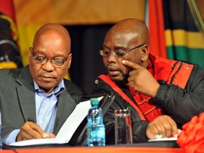 President Jacob Zuma with Sdumo Dlamini, CC BY-ND 2.0 GovernmentZA