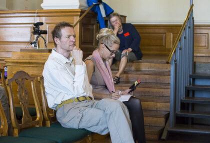 Karsten Lieberkind with Louise Haagh Credit: Michael Husen, BIEN Danmark