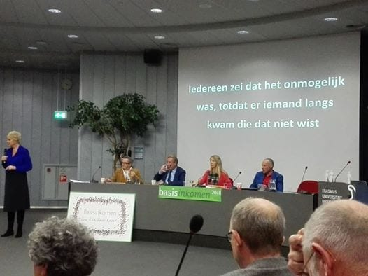 "THE NETHERLANDS: Basic Income discussed at symposium ""A Basic Income, Full Speed Ahead!!"""
