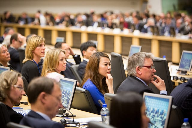 BRUSSELS, BELGIUM: European Business Summit holds Basic Income panel
