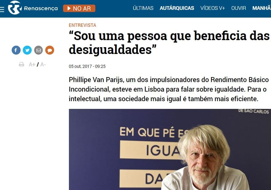 PORTUGAL: Basic Income Gets a Boost of Interest from the Media