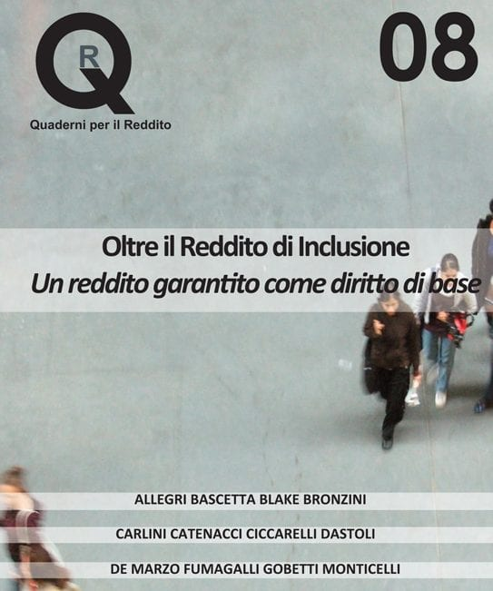 New book: Beyond the Income for Inclusion, for a guaranteed Income as a Basic Right.