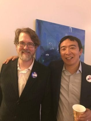 Andrew Yang with Jason Burke Murphy