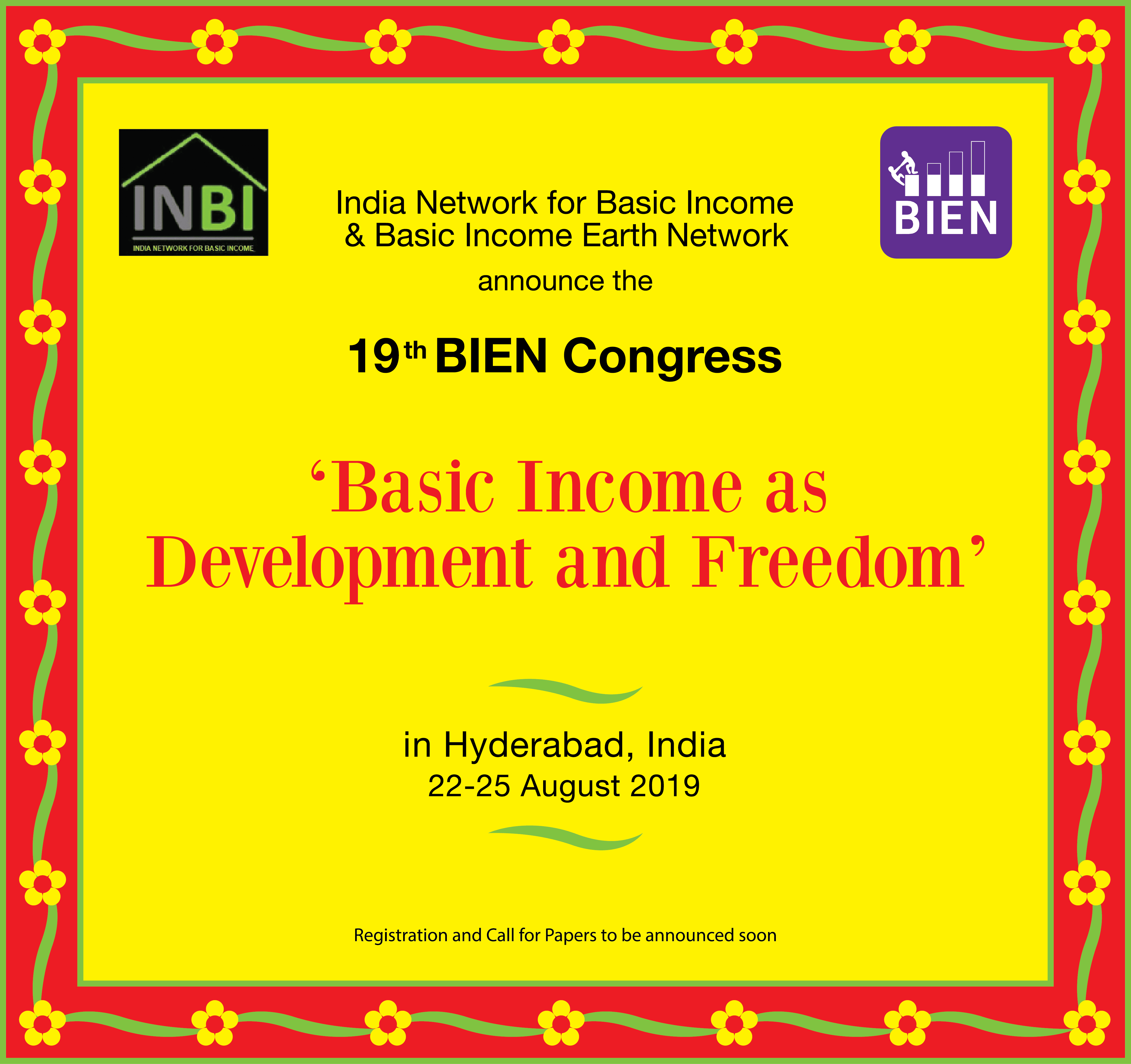 International: Basic Income Earth Conference 2019 announcement