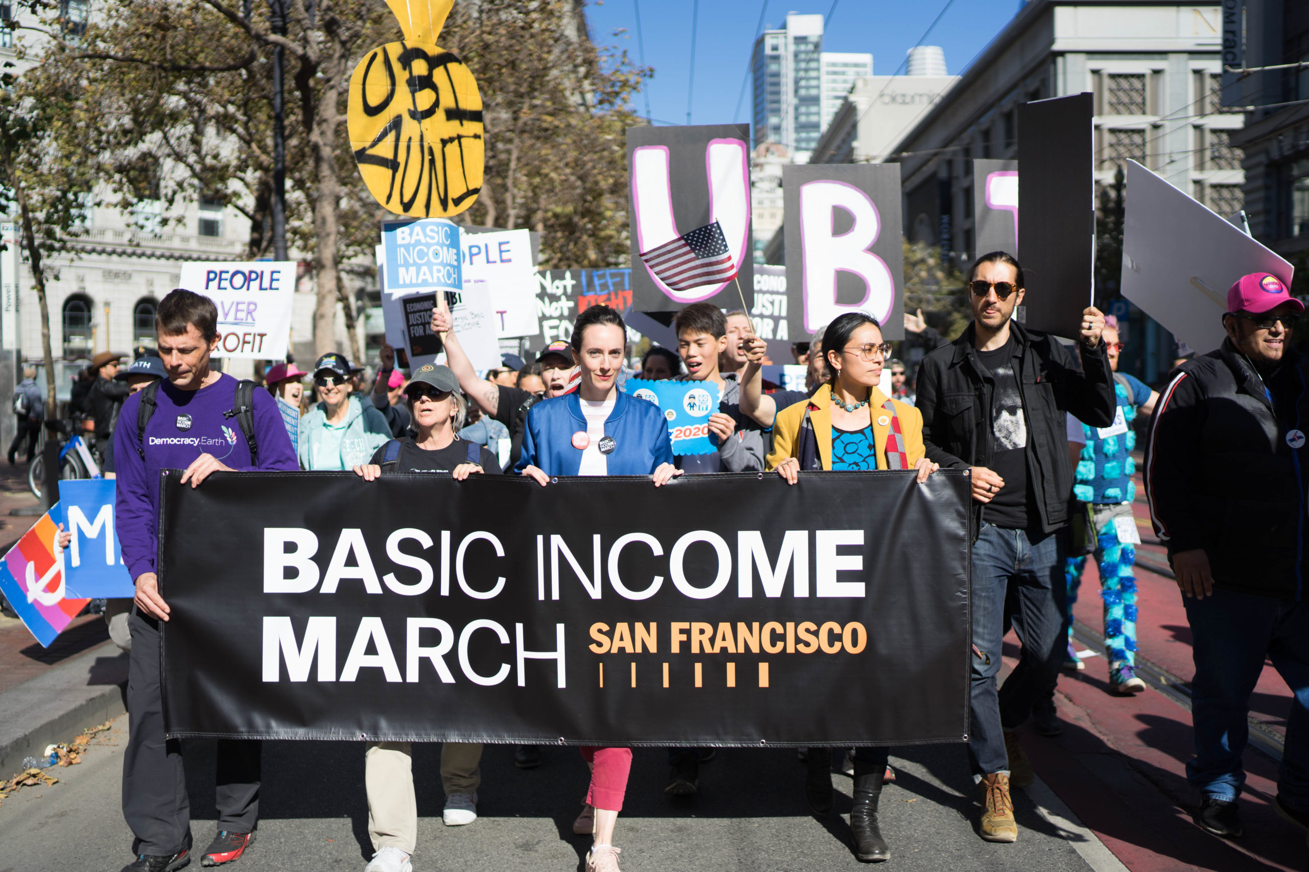 Agatha Bacelar at UBI March in San Fransisco
