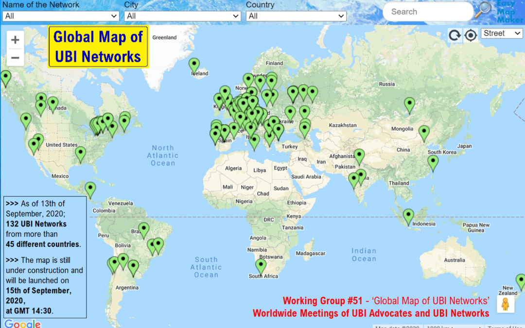 Global Map of Universal Basic Income Networks